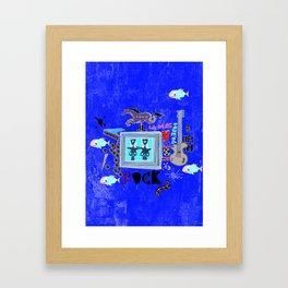 Rock and Fun Framed Art Print