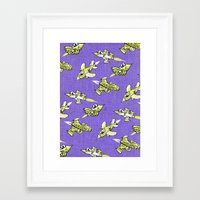 space jam Framed Art Prints featuring space jam by marella