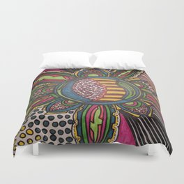 The Dragon Flower Duvet Cover