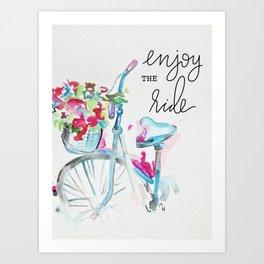 Enjoy the Ride - Bike Art Print