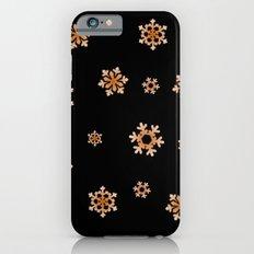 Snowflakes (Orange on Black) Slim Case iPhone 6s