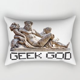 Geek God Funny Computer IT Nerd Tee Rectangular Pillow