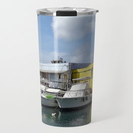 Boats in Bridgetown Travel Mug