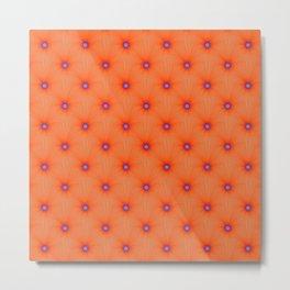 Tangerine Color Explosion Tiled Metal Print