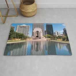 Anzac Memorial and The Pool Of Reflection, Sydney Rug