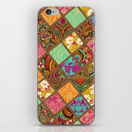 Patchwork Paisley iPhone Skin