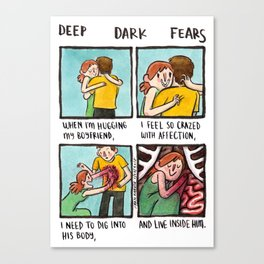 Deep Dark Fears 162 Canvas Print