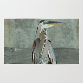 Great Blue Heron Photography Print Rug