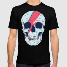 Bowie Skull Mens Fitted Tee LARGE Black