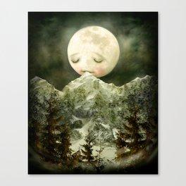 The Peckish Moon Canvas Print