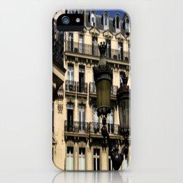 Parisian Lamp Posts iPhone Case