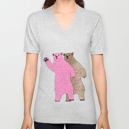 Build A Bigger Bear, Catch a Load of Salmon Unisex V-Neck