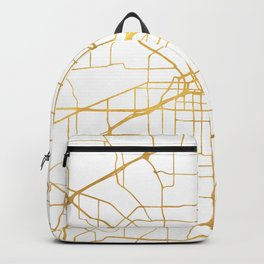 FORT WORTH CITY STREET MAP ART Backpack