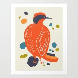 Quirky Helmeted Honeyeater Art Print