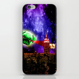Pugs are so lazy eyed, They make great alien invaders iPhone Skin