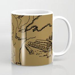 Vintage Map of Minnesota (1912) - Tan Coffee Mug