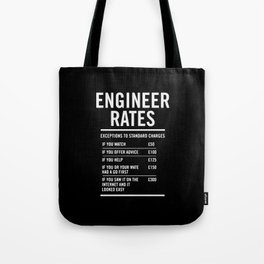 Engineer Labour Rates Tote Bag