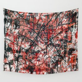 Triple X- black and red Wall Tapestry