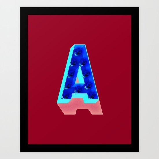 A in lights Art Print