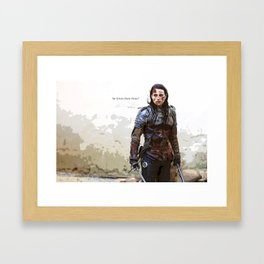 Lena Luthor - be your own hero Framed Art Print