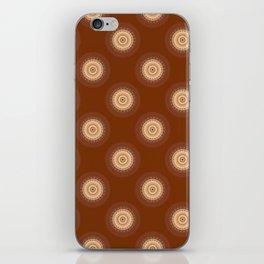 Mandala in brown,  peach and skin tones iPhone Skin