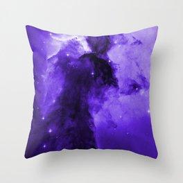 Eagle Nebula Ultraviolet Throw Pillow