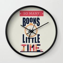 So Many Books Wall Clock