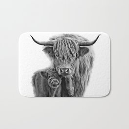 Highland Cow and The Baby Bath Mat