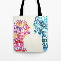 fight Tote Bags featuring FIGHT by .G&J.