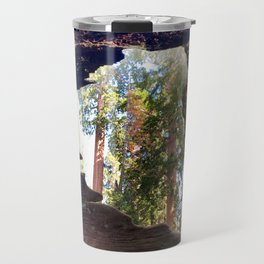 View of Giant Sequoias from Inside a Fallen Sequoia Travel Mug