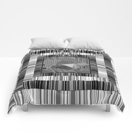 Abstract pattern . Patchwork striped . Comforters