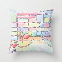 music notes Throw Pillows featuring Music Notes by Rick Borstelman