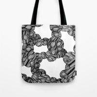muscle Tote Bags featuring Muscle Marbles by Shifra Whiteman