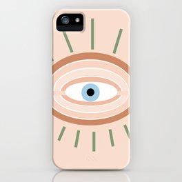 Retro evil eye - neutrals iPhone Case