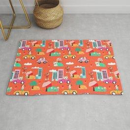 Dog Days Orange #nursery Rug