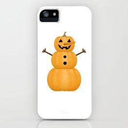 Pumpkin Snowman iPhone Case