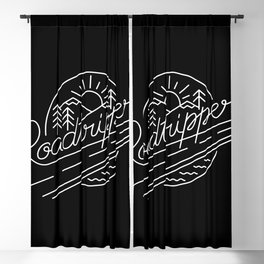 Roadtripper - white Blackout Curtain