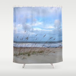 Sea Oats in the Wind Shower Curtain
