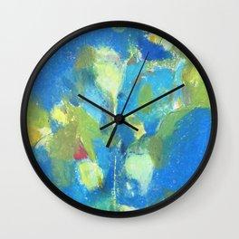 abstract drawing of kalanchoe plant Wall Clock