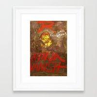 ninja turtle Framed Art Prints featuring Raphael Ninja Turtle Ninja Damn by jansonrachelolson