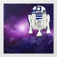 r2d2 Canvas Prints featuring r2d2 by Lovemaltine