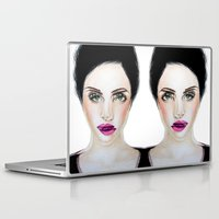 glitch Laptop & iPad Skins featuring Glitch by Hiba Khan Art