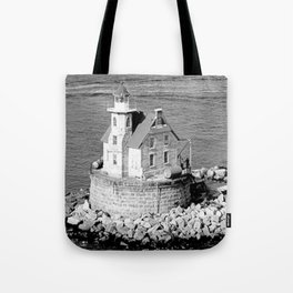 Race Rock Lighthouse Tote Bag