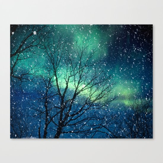 Aurora Borealis Northern Lights Canvas Print By Bomobob