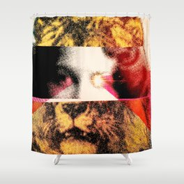 Lady Lion Shower Curtain