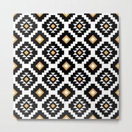 Aztec geometric pattern Metal Print