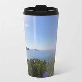 The view from the cliff Metal Travel Mug