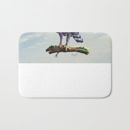 African crowned eagle  Bath Mat