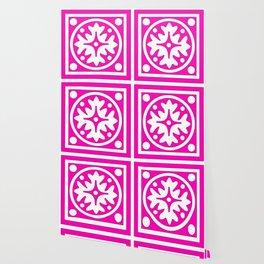 hot pink pattern Wallpaper