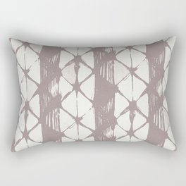 Simply Braided Chevron Red Earth on Lunar Gray Rectangular Pillow